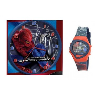 Coffret Pendule et Montre Spiderman
